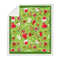 3d print merry christmas gift santa claus deer plush microfiber throw blanket on bed sofa bedding indoor