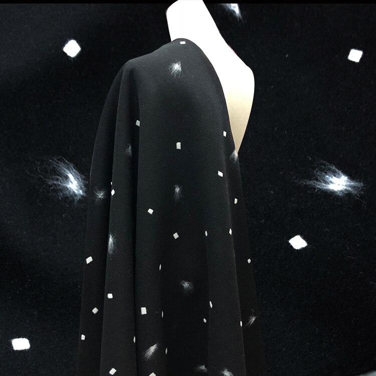 95% tecido de lã tridimensional tecido jacquard de lã pura 830 g/m peso pesado grosso outono e inverno moda casaco tecido
