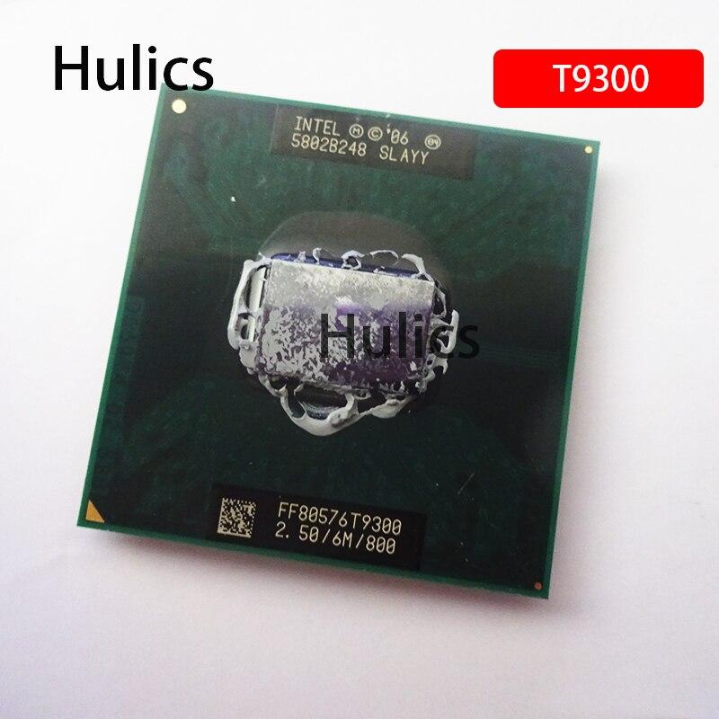 Processador do portátil do soquete 2.5 do duplo-núcleo para gm45 pm45 hulics intel cpu core 2 duo t9300 cpu 6m cache/800 ghz/479/duplo-núcleo