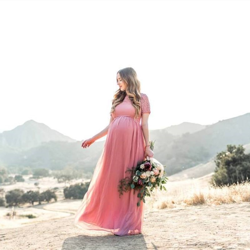 New 2021 Maternity Lace Dress Women Clothes Photography Props Elegant Pregnant Dress Female Long Dress Pregnancy Photo Shoot enlarge