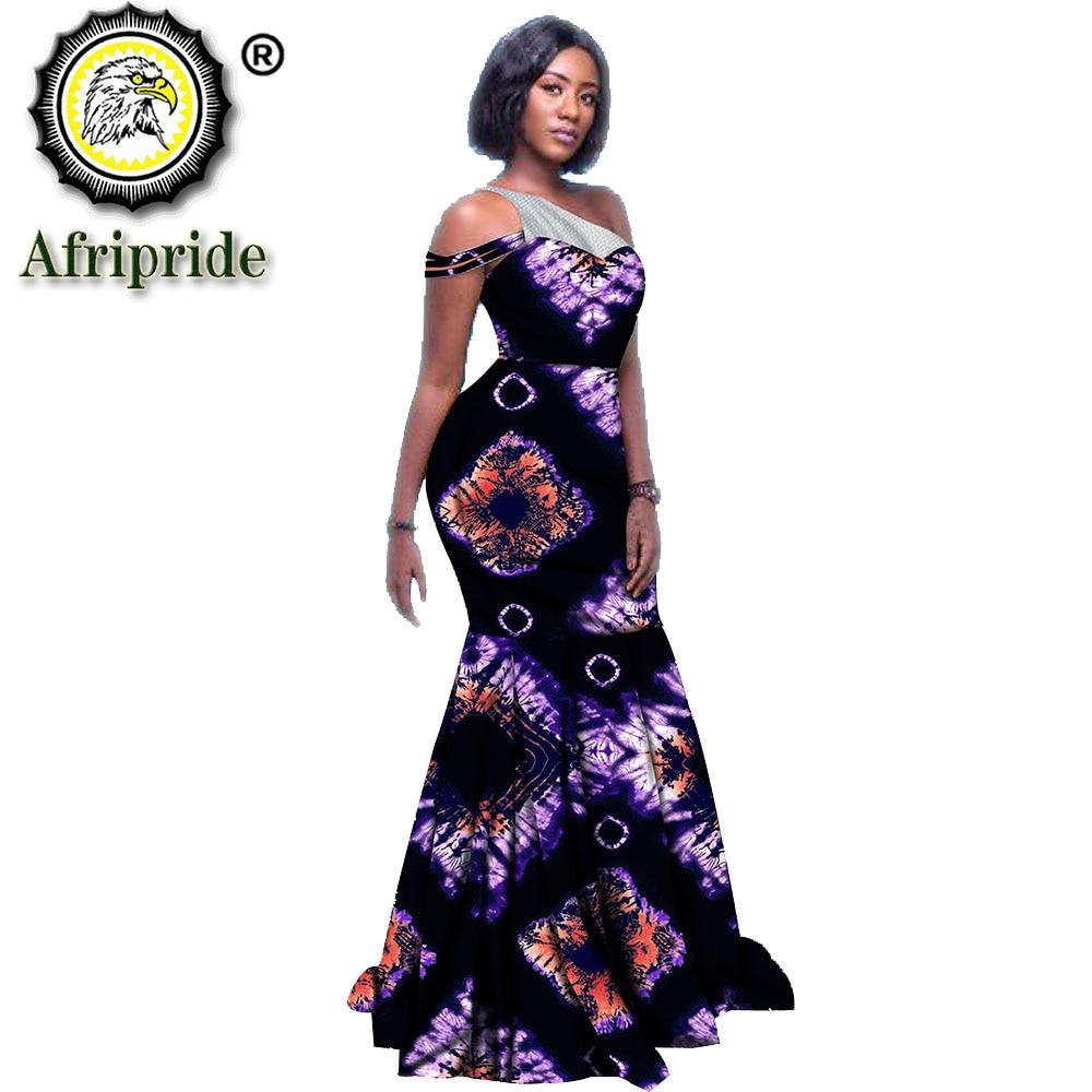 2020 Afrikaanse Lange Maxi Jurken Voor Vrouwen Ankara Print Outfit Wedding Party Dress Bloemen Herfst Dashiki Kledij Afripride S1925092