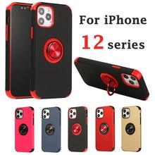 Für iPhone 12 pro max fall 12pro 12mini ich telefon abdeckung 12 pro mini 5G 2020 iphone12 12promax 12 fall kindstand metall ring