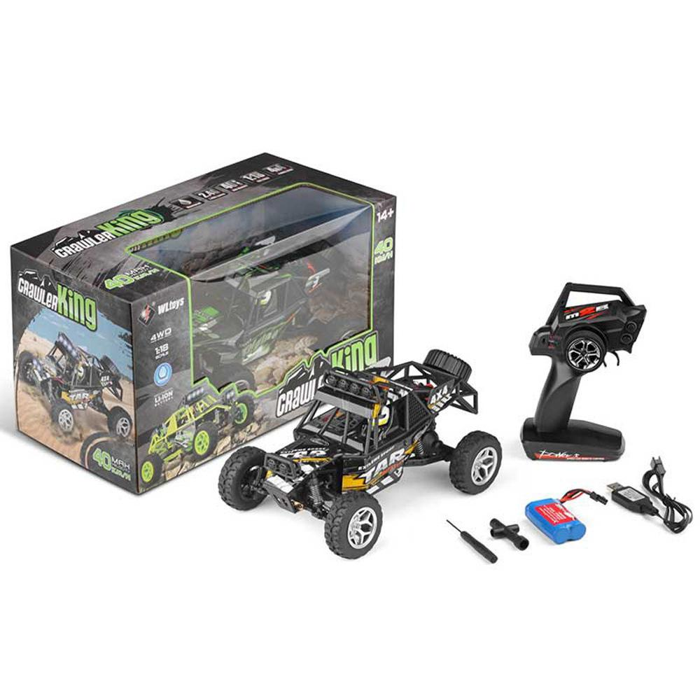 WLtoys 18428 RC Car 1:18 Four-wheel Drive RC Desert Truck Fast Speed 40KM/H Off-road Vehicle Climbing Cars Toys Gifts For Kids enlarge