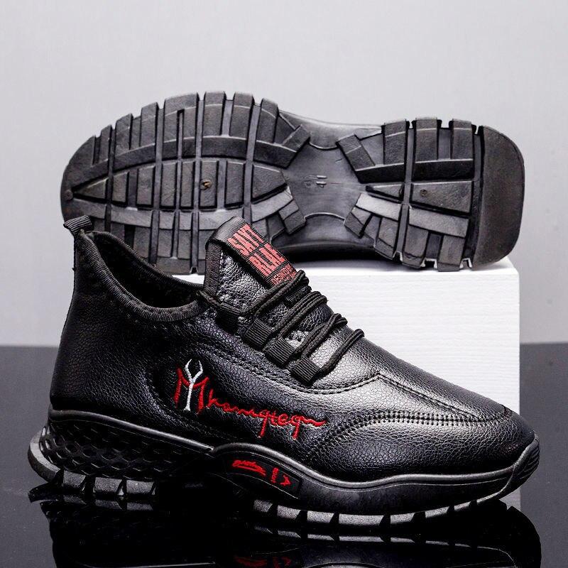 Мужская Спортивная обувь весна-осень 2021, новый стиль, мужская модная спортивная обувь, кожаная мужская обувь, мужская повседневная обувь, кр...