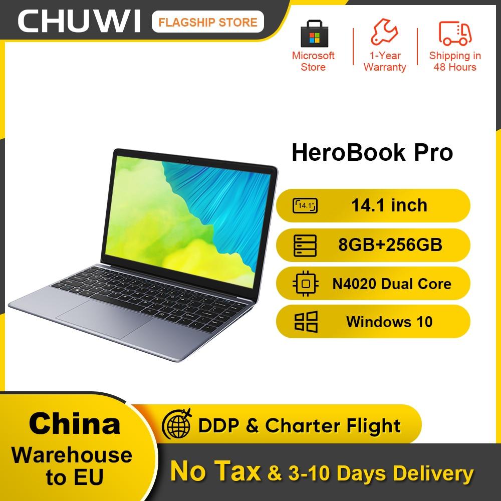 CHUWI HeroBook Pro 14.1Inch Laptop Intel Gemini lake N4020 Dual core 8GB RAM 256GB SSD Windows 10 computer Full Layout Keyboard