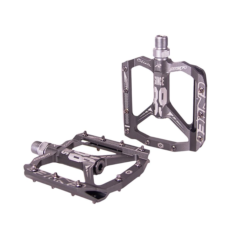 Myzrh 1 par de bicicletas de montanha pedais ultraleve liga alumínio pedais mtb bmx bicicleta pedal du rolamento pedales #9