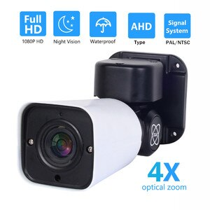 OwlCat Security Camera Outdoor Waterproof PTZ Camera 4X Zoom HD 1080P AHD / TVI / CVI/CVBS CCTV Analog Camera Sony Sensor Bullet