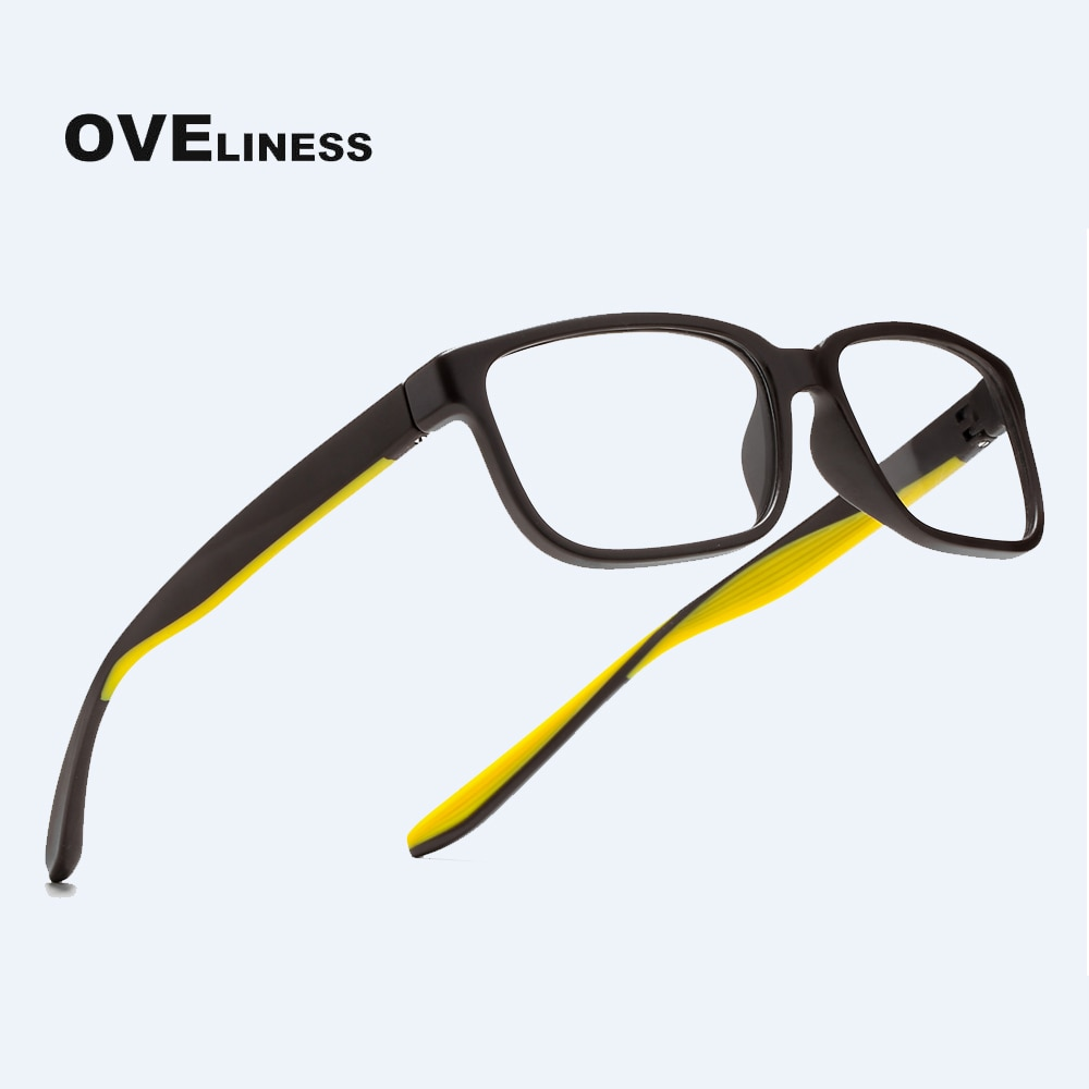 Fashion men's eyeglasses eye glasses frame for men Square Optical Myopia Prescription Clear glasses tr90 male Spectacles eyewear
