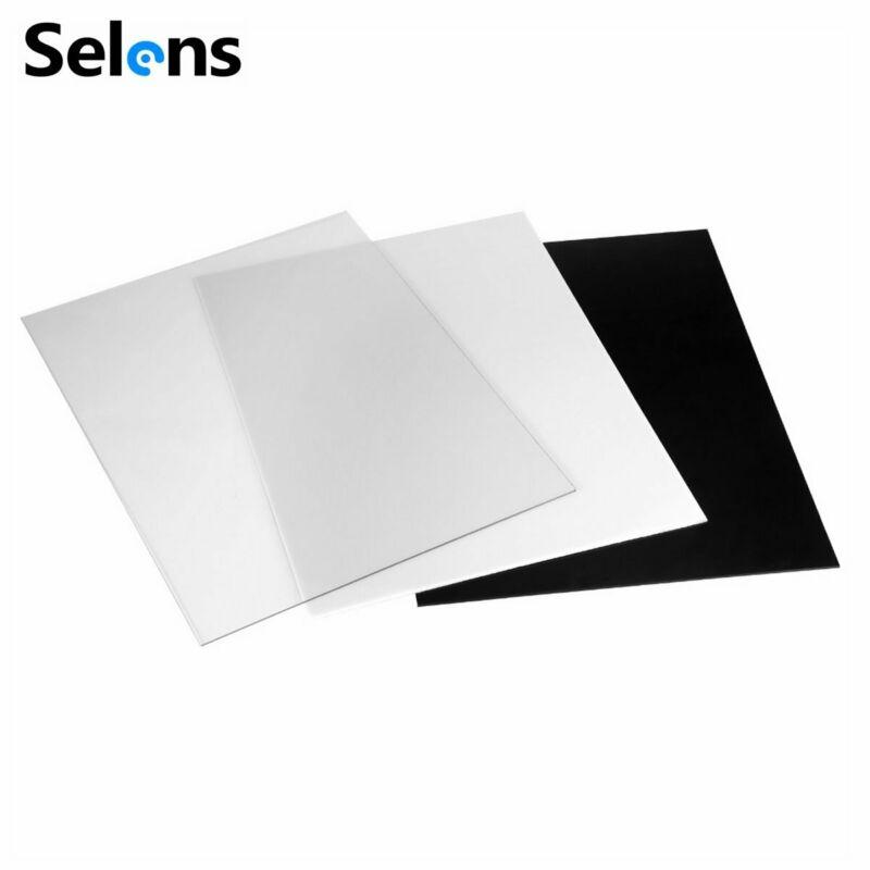 Placa de Reflexão Placa de Plástico Placa de Exibição Fotográfica Acrílico Branco Preto Fundo Estúdio Acessório Foto 30×40 cm