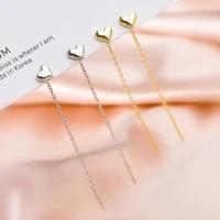 1pair silver color tassel love earrings 2021 trendy korean hanging drop earrings for women fashion jewelry girls party gift