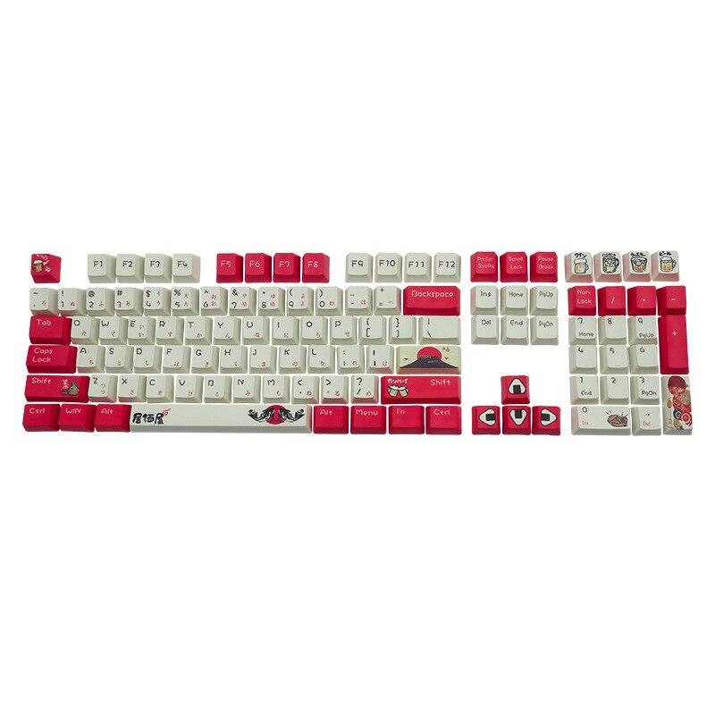 التسامي-Izakaya PBT كامد Keycap شخصية 108 مفتاح Keycap عبر شكل Keycap X هيكل التكنولوجيا