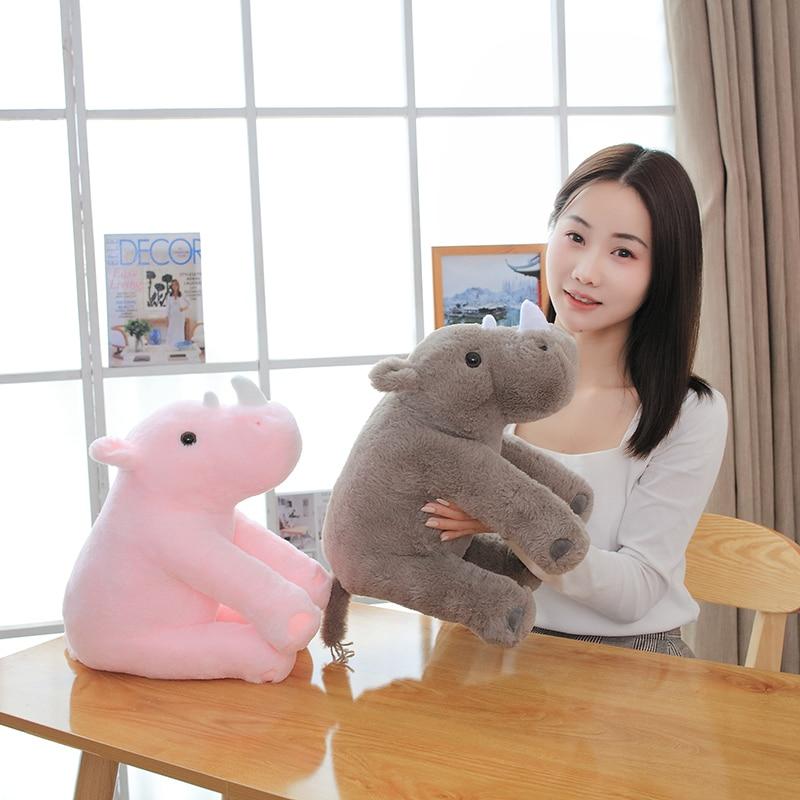 Hot 40/60cm Soft Lovely Rhinoceros Plush Pillow Kawaii Stuffed Animal Plush Toys for Children Baby Appease Doll Kids Girls Gift  - buy with discount