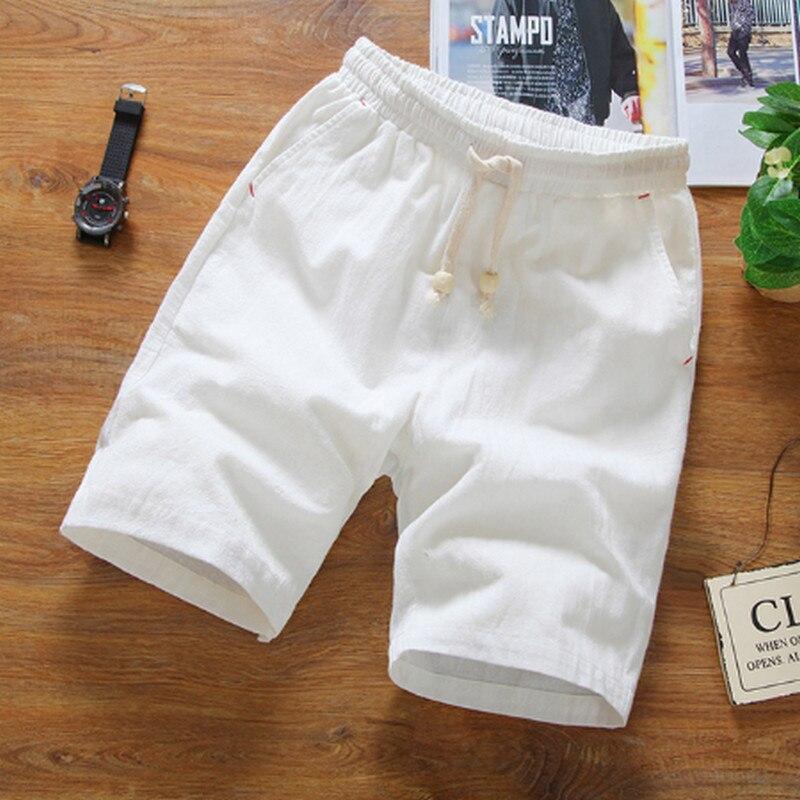 Новые модные мужские льняные шорты летние Брендовые повседневные шорты мужские, модные, хлопковые, повседневные пляжные шорты мужские шорт...