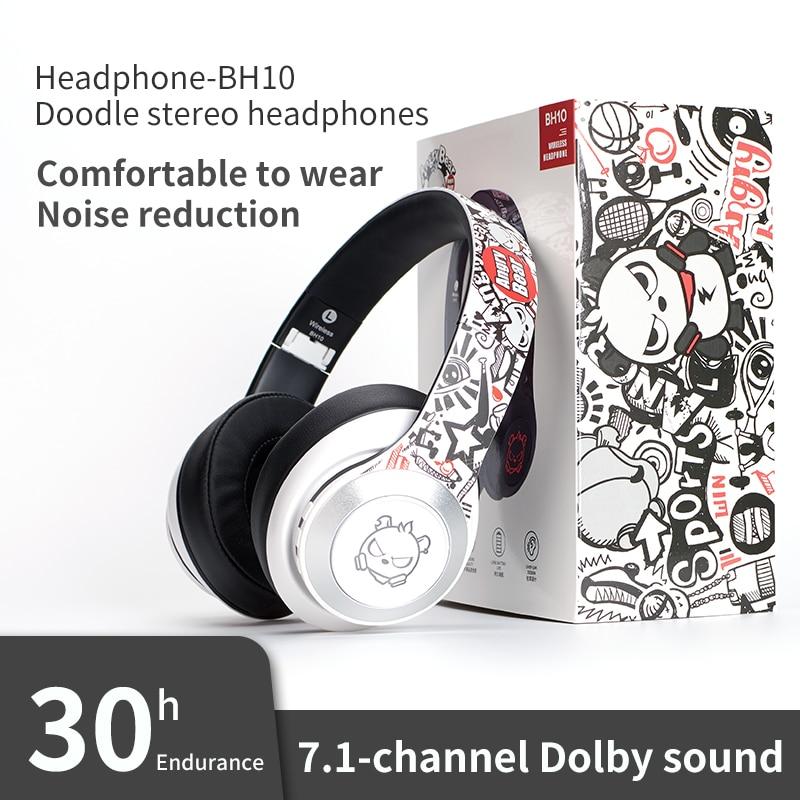 Fone de Ouvido sem Fio Fone com Microfone para Portátil Bluetooth Gaming Headphone Alta Fidelidade Estéreo Cancelamento Ruído Tablet pc Ps4 Tws