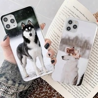 yndfcnb animal cute husky dog phone case for iphone 8 7 6 6s plus x 5s se 2020 xr 11 12 mini pro xs max