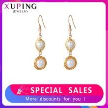 Pendientes Xuping modernos de lujo, circonita cúbica sintética Multicolor para mujer, regalos de joyería para el día de Navidad, S63.7-93771