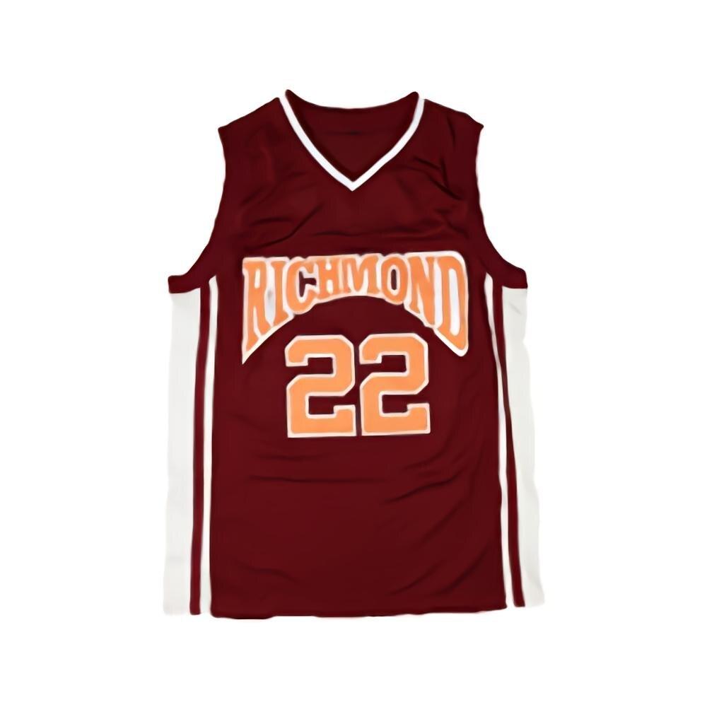 Günstige Timo Cruz Richmond Hohe Carter Film Basketball #22 Jersey Red Stich S-3XL
