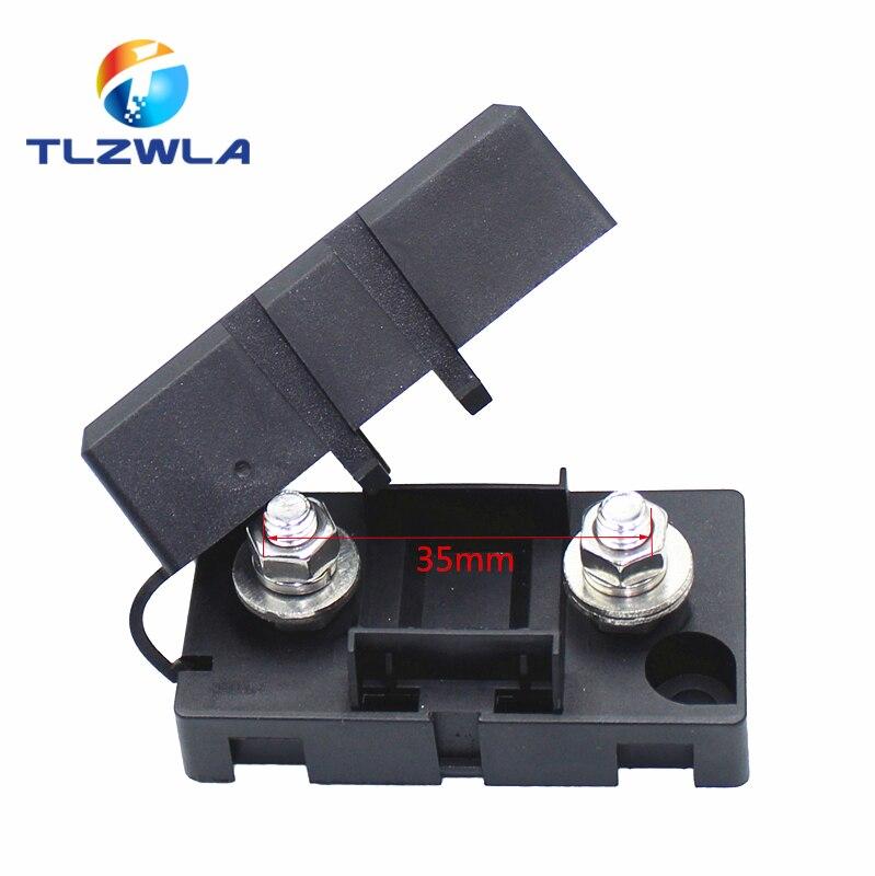 ANS-8 Tipo de enchufe de horquilla de trompeta el portafusibles 52x27,5mm base de placa de seguridad portafusibles con muescas