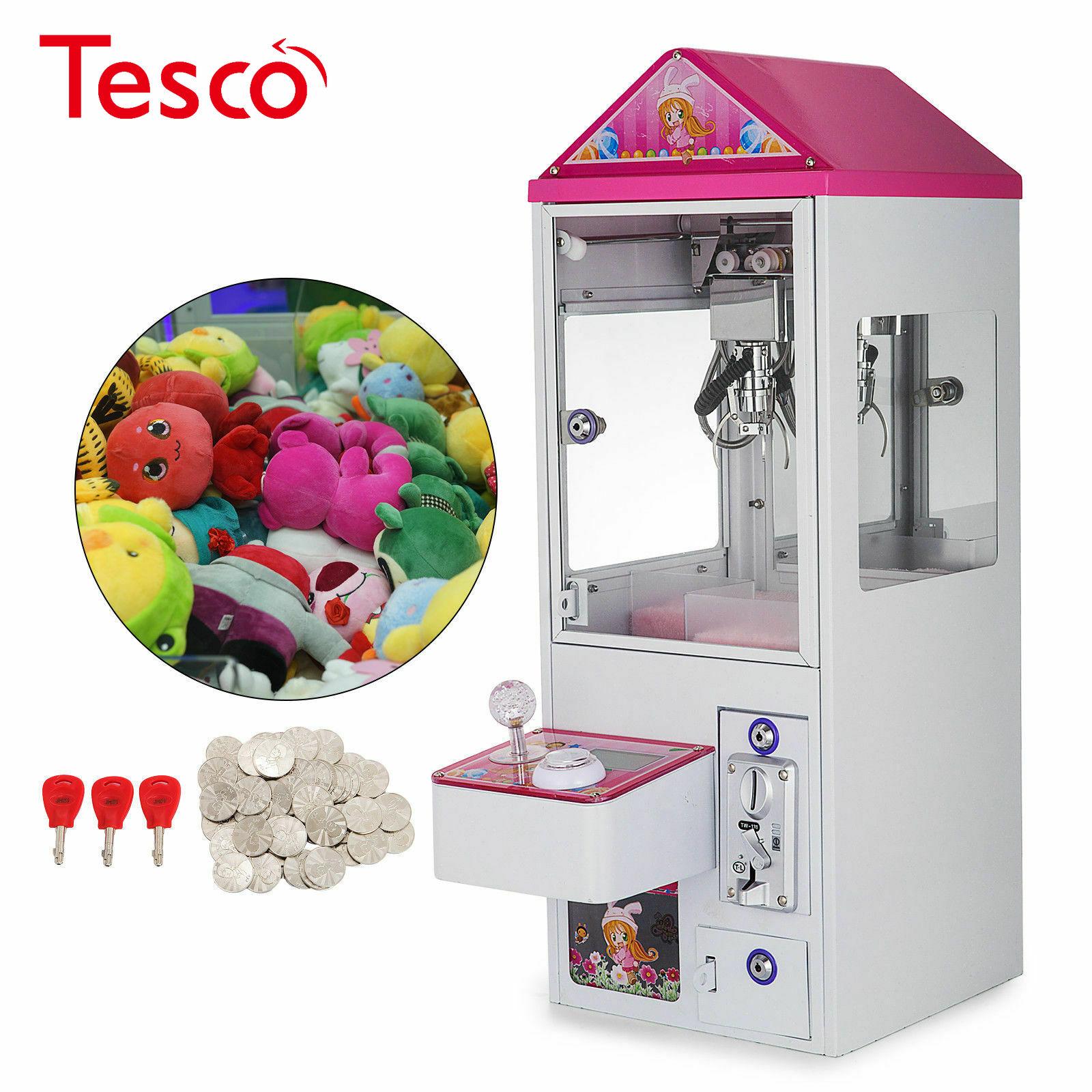 Mini garra grúa máquina caramelo juguete recogedor Carnival Charge Play Mall 110V