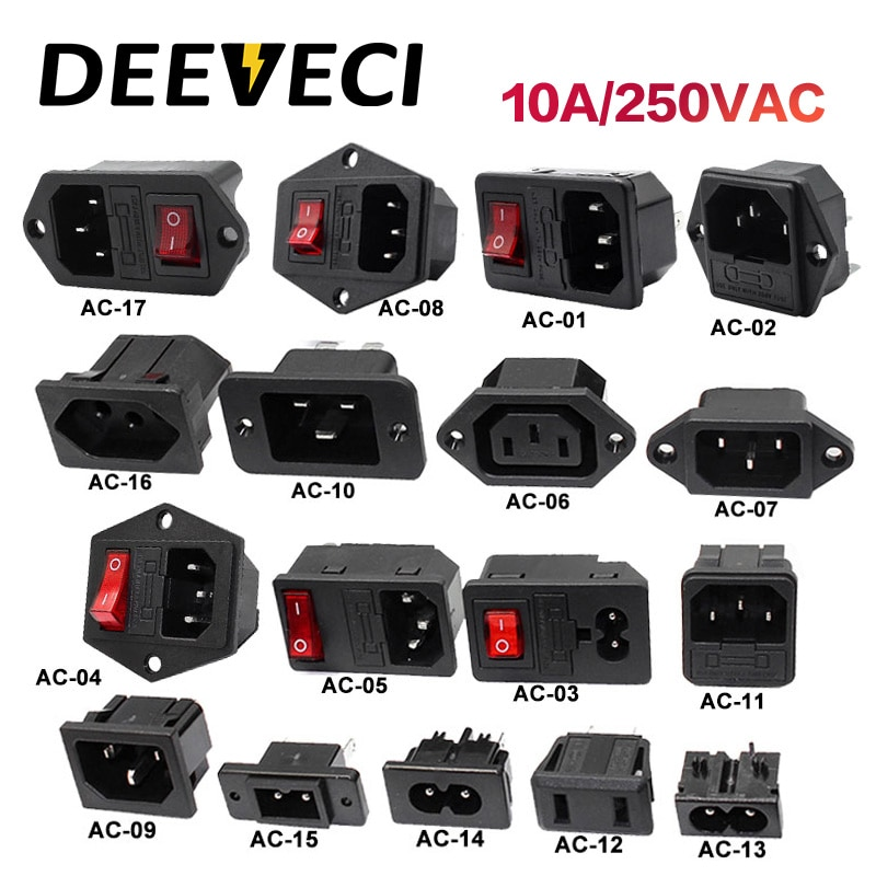 saipwell hot sale ip44 electrical outdoor socket 4p 63a sp 1241 Electrical AC Socket 2 pin red LED 250V 4p Rocker Switch 10A fuse male female inlet plug connector 3 pin socket IEC320 C14