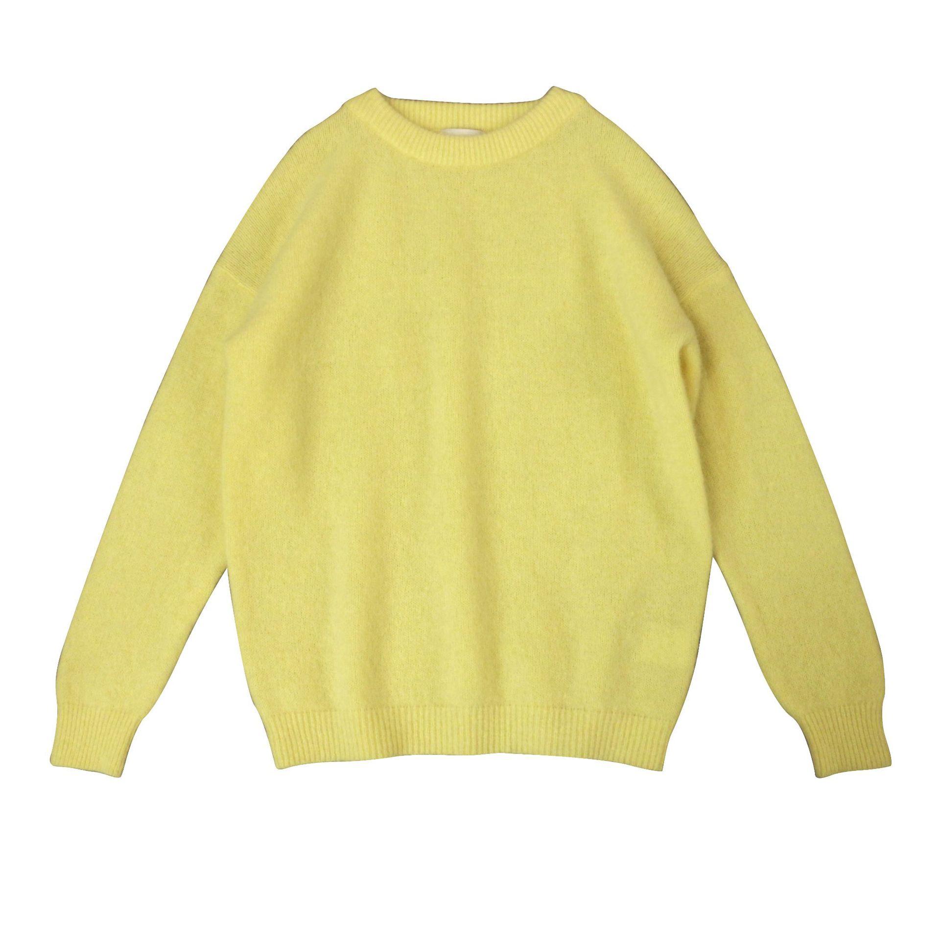 SHUCHAN Yellow SWEATER WOMEN 34% Mohair Free Shipping Items Clothes for Women Streetwear Women Clothes Korean Fashion