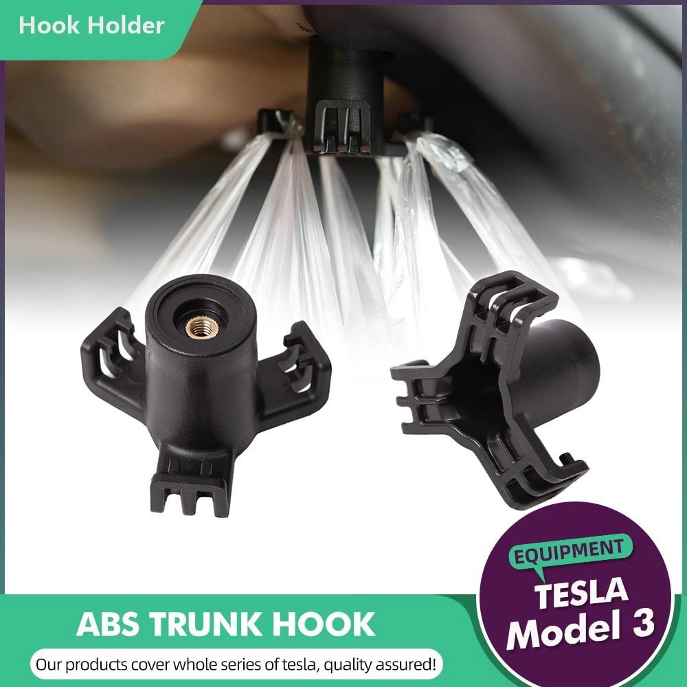 Model Three Car Cargo Rear Trunk Hook Holder Anti-Swinging Shopping Bag Hanger Tesla Model 3 Model Y