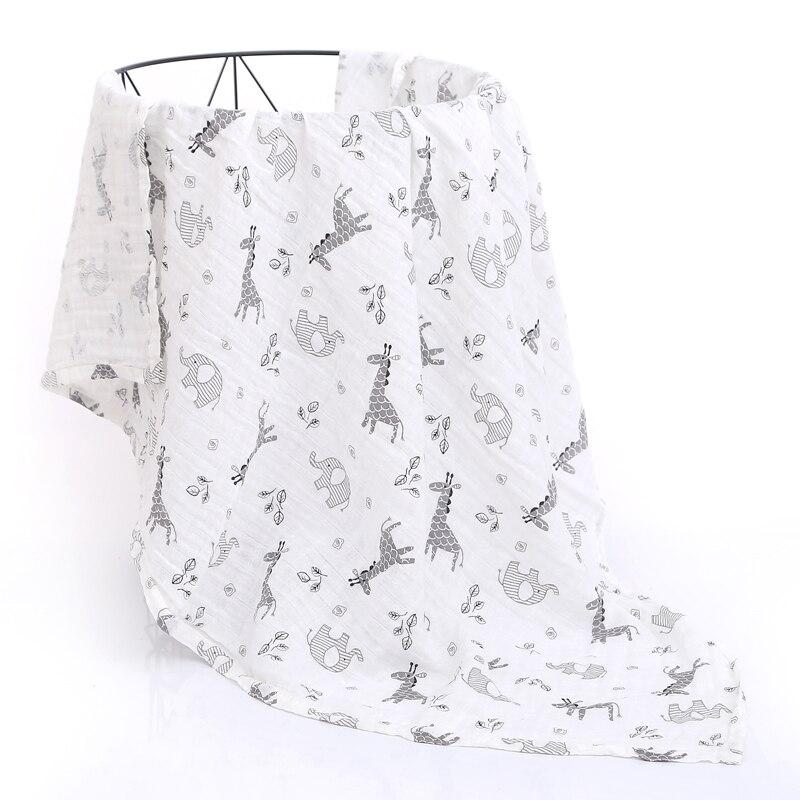120X110cm Baby Blankets Newborn Swaddle Wrap Blankets Cotton Infant Muslin Diaper Cloth Blanket Towel