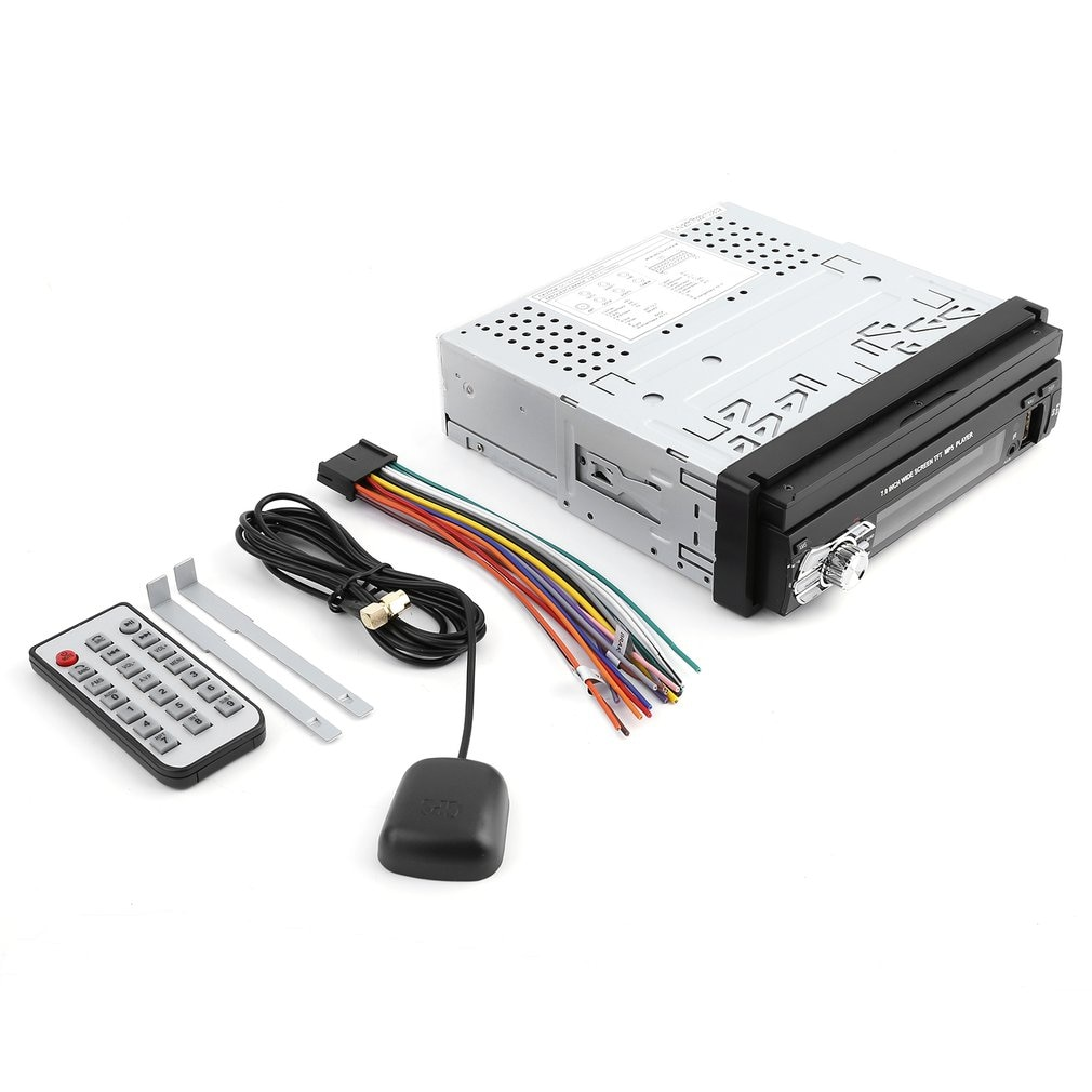 Pantalla táctil TFT Universal de 7 pulgadas, reproductor de MP5 HD para coche, sintonizador de Radio estéreo, Audio, navegación con memoria GPS, 1 Din
