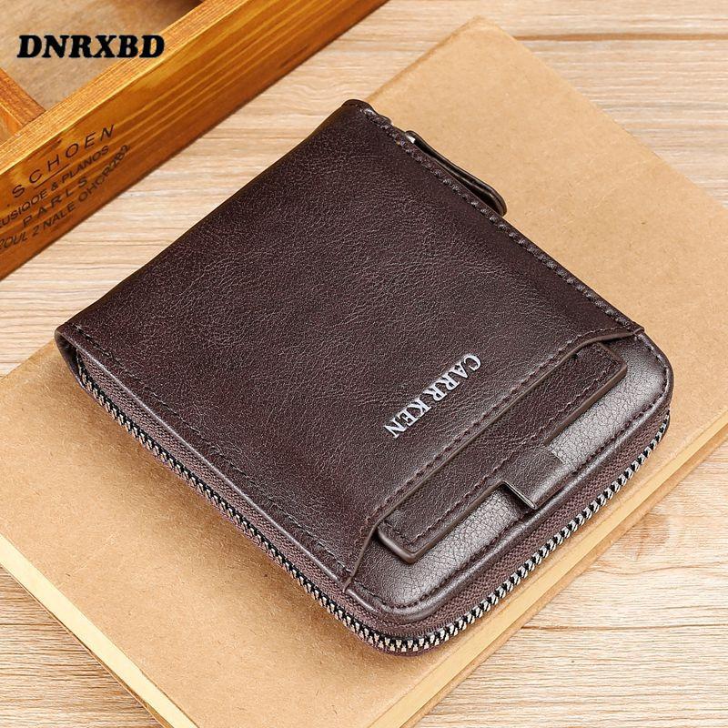 Мужской кошелек, повседневный мужской клатч, кожаный кошелек, маленький кошелек, модный держатель для карт, мужской кошелек для монет, бумаж...