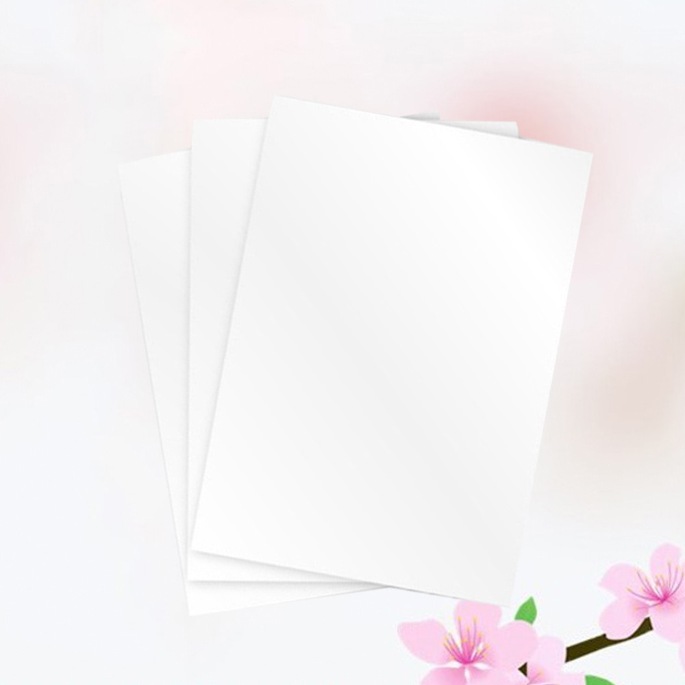 3PCS A4 Size Magnetic Printing Paper Inkjet Printer Photographic Paper for Office School White
