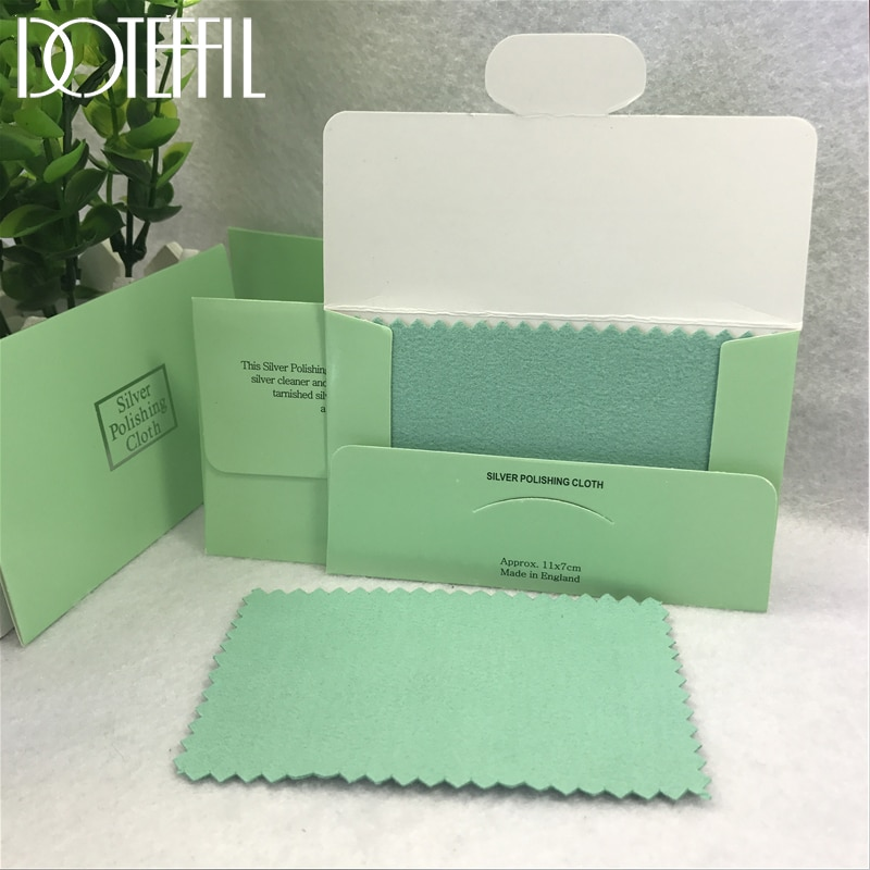 DOTEFFIL 20pcs 925 Sterling silver Jewelry Cleaning Cloth Silver Polishing Cloth 11x7cm Women 925 Si