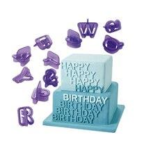 40 Pcs/Set Alphabet Numbers Mould Cookie Cutter Set, Cake Letters Cutter Fondant Cake Decoration Tools