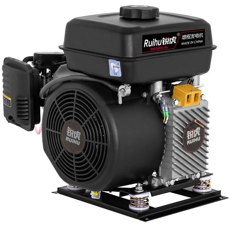 48V60V72V 4KW5KW6KW7KW منخفضة الضوضاء استهلاك الطاقة مركبة كهربية المدى موسع شحن مولد البنزين المدى موسع