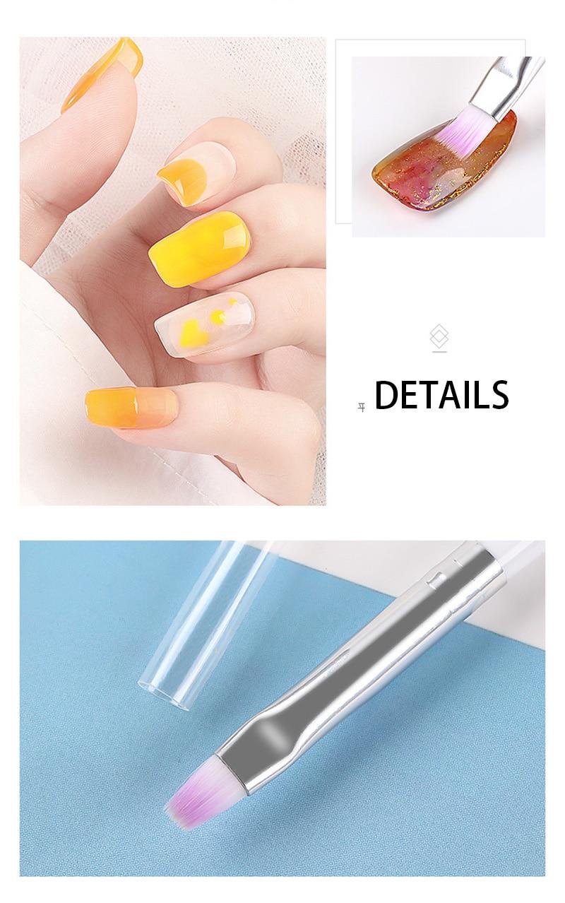 1pc Nail Art Brush Nail Art Painting Drawing Brush UV Gel Brush Pen Nail Phototherapy Tools Professional Manicure Tool