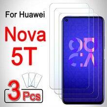 Pour huawei nova 5 t film de protection décran couverture de téléphone 5 t t5 blindé huwei hawei hauwei huawey huawie 1-3 pièces huawei nova 5 t verre