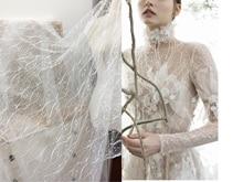 2 m/bolsa Lily alta calidad encaje bordado Base tela ropa vestido de boda velo Accesorios