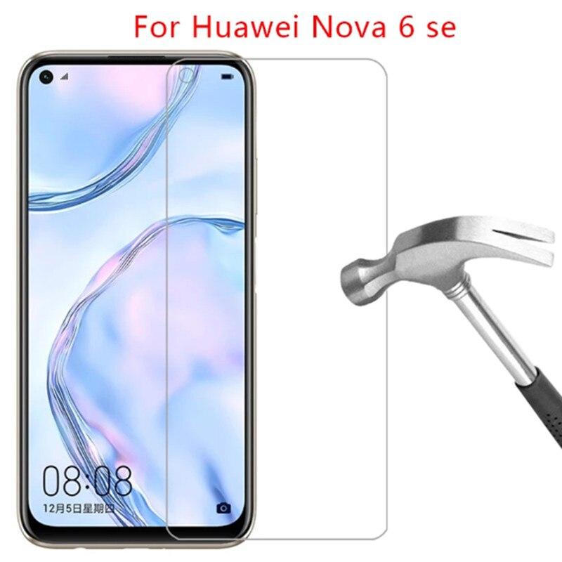 """3 Stuks 9H Beschermende Glas Voor Huawei Nova 6 Se 6.4 """"Veiligheid Telefoon Screen Protector Op Huawei Nova 6 5G 6.57"""" Huawey Glas Film"""