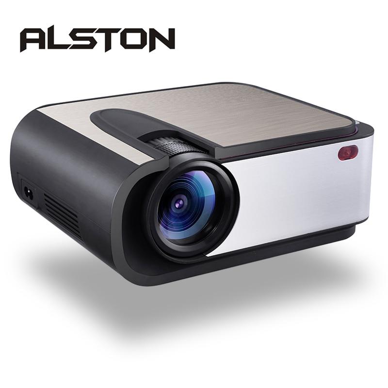 ALSTON-Proyector LED H89 Full HD, Proyector de vídeo para cine en casa, con 2200 lúmenes, WIFI, Miracast/Airplay, USB, AV, SD, HDMI, VGA