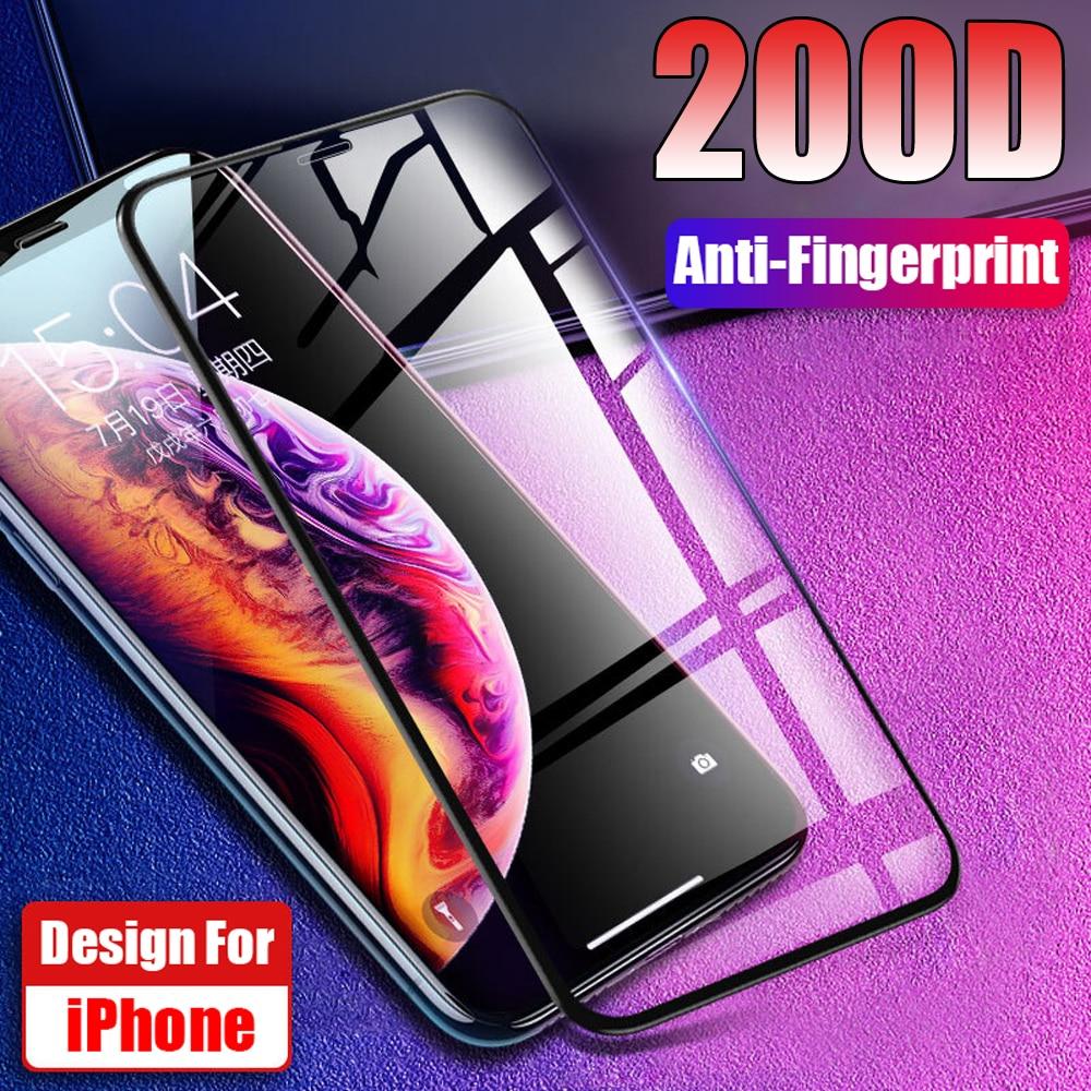 9H funda completa dura de vidrio templado Protector de pantalla más fuerte funda protectora película frontal iPhone 11 Pro 11Pro Max