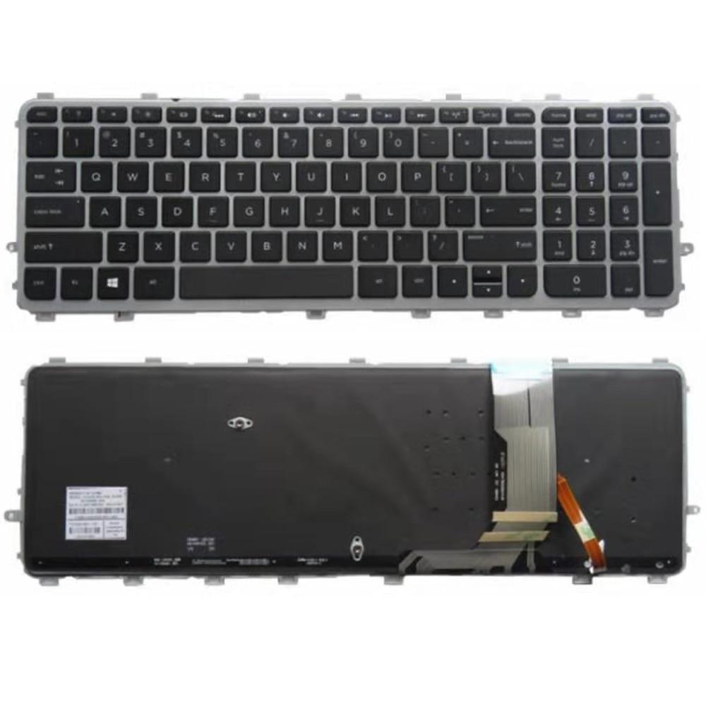 GZEELE جديد ل HP ENVY 15-J 17-J كمبيوتر محمول الولايات المتحدة لوحة المفاتيح الخلفية
