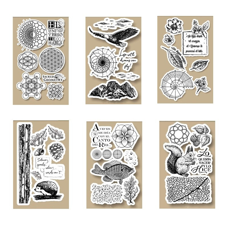 10x16 CM 2020 DIY nuevos sellos para álbum de recortes y tarjetas de sellos transparentes que hacen HD sello de goma Natural cuenta Craft Set