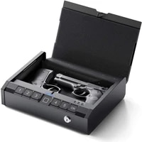 aseline biometric gun safe for handgun car gun safe smart fingerprint gun safe bedside nightstand wall car metal wall plate