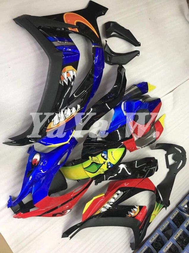 Nuevo carenado ABS de alta calidad para motocicleta kawasaki Ninja ZX10R 2016 2017 2018 2019 ZX-10R carrocería The moon the sun shark