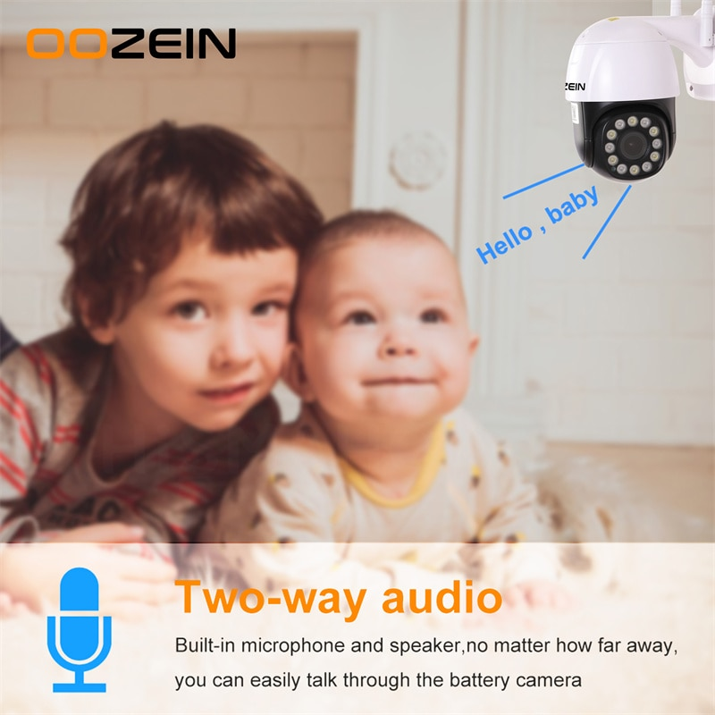 5MP HD IP Camera Wireless Outdoor Security PTZ WiFi Camera Auto Tracking Home CCTV Surveillance H.265 Network Two Way Audio dahua security camera auto cruise wifi camera ptz network surveillance camera privacy mask two way talk smart tracking