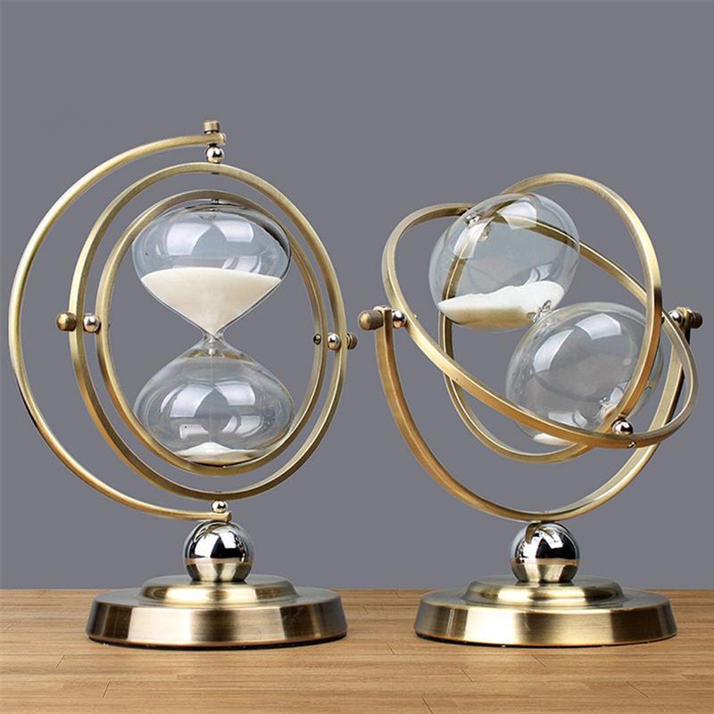 Оригинальные часы-шары с таймером, песочные часы в стиле ретро, песочные часы с таймером на 30 минут, часы для гостиной, офиса, украшение для д...