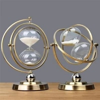 creative personality globe timer sand clock retro sandglass 30 minutes time hourglass timer living room office home decoration