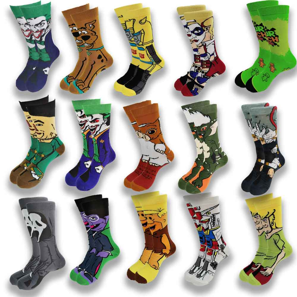 Cartoon and Animation Movie Characters Fashion Trend Men Women Socks Autumn Winter Street Style  Middle Tube Skateboard