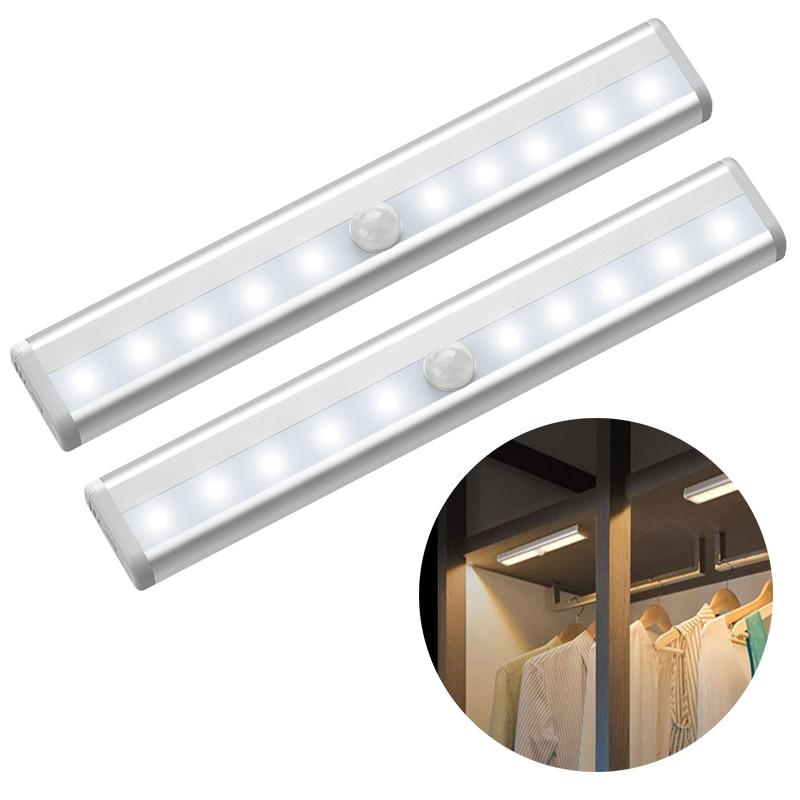 Wall Lamp Under Cabinet Light PIR Motion Sensor Lamp LEDs Decoration for Wardrobe Cupboard Closet Kitchen Lighting Night Light