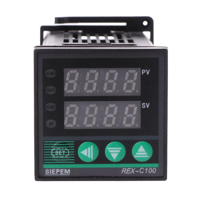PID Digital Temperature Controller REX-C100 0 To 400°C K Type Input SSR Output rex c100 digital rkc pid thermostat temperature controller digital 40a ssr relay k thermocouple probe heat sink
