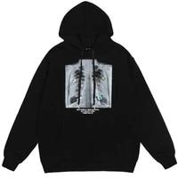 hip hop oversize hoodie sweatshirt men 2020 streetwear harajuku x ray butterfly hooded loose hipster fleece hoodie plus size